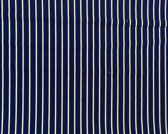 Robert Kaufman, Navy and White stripes, BT-3483-1)Basics