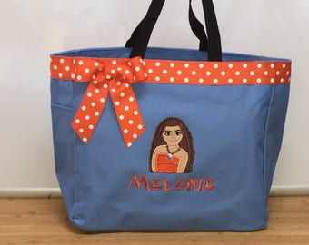 Personalized Moana Tote Bag Book Toy Bag