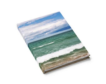 Great Lakes Journal, Beach Journal, Hardcover Journal, Adventure Journal, Adventure Notebook, Journal Gift, Gift for Writer, Beach Photo