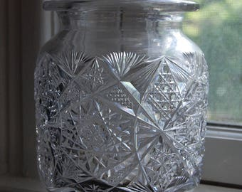 Antique Vintage Cut Crystal Vase