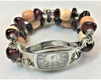 Redrock, Beaded, Interchangeable, Stretchy, Bling, Watchband, Watches, Handmade, Women,