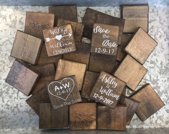 Custom Rustic Save the Date Magnets