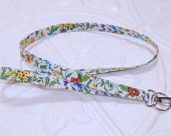 Lanyard - Fabric Lanyard - Teacher Lanyard - Key Lanyard - Id Badge Holder - Floral Lanyard