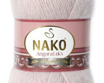 Nako Angora, mohair yarn, wool yarn,bulky yarn, cheap yarn, winter yarn, autumn yarn, cardigan yarn, hairy warm yarn, 100 grams
