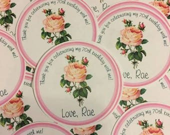 Rose Themed Favor Tags
