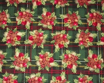 Christmas Fabric, Holly Fabric, Holiday Fabric, Fabric Traditions, Patty Reed, Quilting Sewing Fabric, By The Yard, Novelty Fabric, Bells