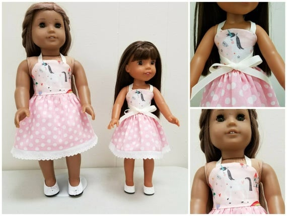 Unicorn Dress for Wellie Wisher and American Girl Dolls