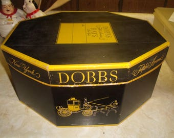 vintage dobbs new york fifth avenue hatbox hat box fedora with insert