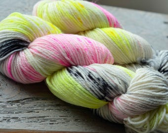 Hand Dyed Superwash Merino Wool Yarn - Worsted weight - Jazzercise