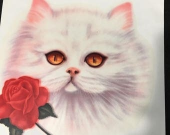 The Romantic Kitty.... heat press!! Vintage 80s!