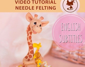 Video Master Class: Needle Felted Cute Giraffe with movable legs and head