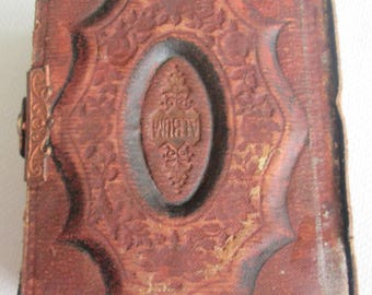 Tintype Photo Album 1860s Small Some Tintypes Tears on Delicate Paper