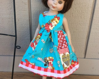 """Sweet little girls, apple pocket, 14"""" doll clothes,   Tonner, Betsy McCall, Maru"""