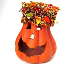 Beaded cuff, Gift for women, Beaded Bracelet, Beaded jewelry, Colorful bracelet, Boho bracelet cuff, Autumn colors inspired