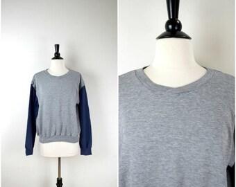 Summer Sale Vintage Levi's grey retro sweatshirt / two tone jersey jumper