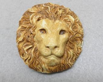 Vintage Resin Lion Head Belt Buckle or Bolo Tie, Vintage Lion Buckle, Lion Head Bolo Tie