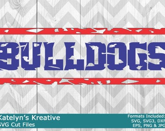 Bulldogs Distressed SVG Files
