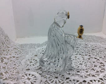 Vintage Gorham lead  crystal wiseman nativity piece