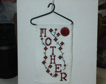 Small Cross stitch wall hanging