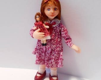 Sandy, OOAK 1/12 dollhouse doll