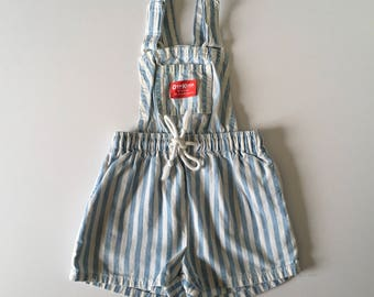 1980's Chambray Stripe OshKosh Shortalls (2t)