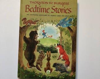 1978 Thornton Burgess Bedtime Stories Hardcover Book