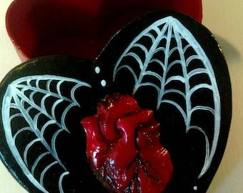 Heart shaped treasure box, zombie heart, anatomical heart