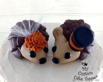 Hedgehogs Wedding Cake Topper with Mums