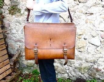 JUMBO Leather Mens Bag - Business Briefcase - satchel bag - xxl - Tall Man - messenger bag - Engineer Satchel  - Man Bag