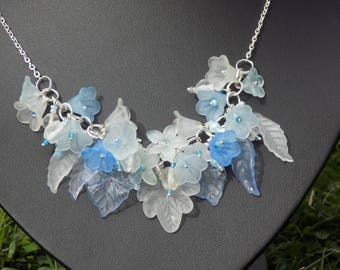 Winter/Ice Flower Necklace