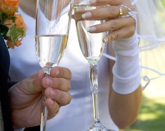 Short Fingerless Bridal Gloves