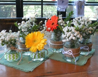 Mint Green Burlap Table Topper or Pick Your Color Burlap Table Centerpiece Burlap Overlay Burlap Square
