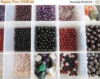 30% OFF SALE Beads Lot Mix Gemstone Glass Focal Assortment for Jewelry Making DIY