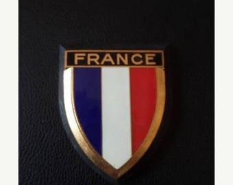 30% OFF SALE Vintage Drago France Car Emblem Enamel Metal Auto Accessory French Car Badge