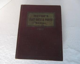 Motor's Flat Rate & Parts Manual, 1960