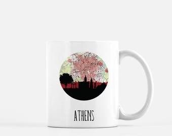 Athens GA mug | Athens Georgia skyline mug | Athens Georgia map mug | Athens Georgia gift | Georgia gift | gift for him | GA mug