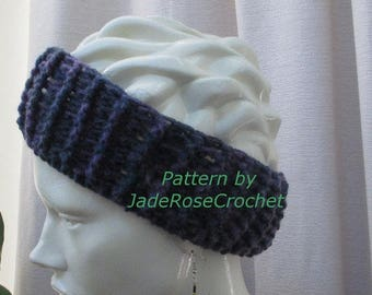 Headband Crochet Pattern, Earwarmer Crochet Pattern Ribbed Headband Crochet Pattern, Quick Gift Crochet Pattern,  PDF007