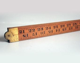 sybren folding wooden ruler tool