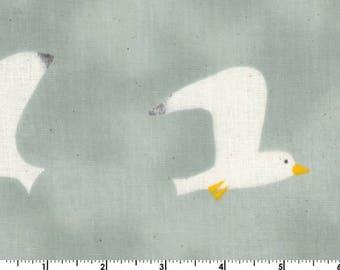 Custom Listing for messyspud - Trefle Cucito DOUBLE GAUZE - Birds Grey from Kokka Fabrics - 2 yards