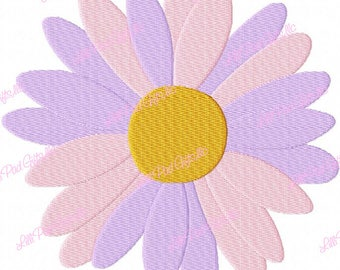 Daisy Flower Head - Machine Embroidery - 11 sizes