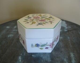 Minton Haddon Hall English Bone China Trinket Floral Box
