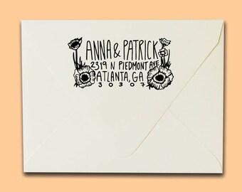 Poppy Address Stamp