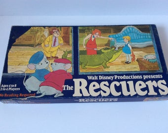 The Rescuers Game - Vintage Board Game - 1977 - Parker Game - Walt Disney Productions - Vintage Toy - Collectable