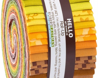 Terrarium cotton jelly roll by Elizabeth Hartman for Robert kaufman fabrics
