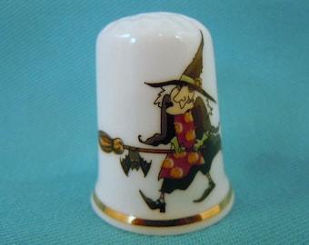 Thimble Bone China with Witch