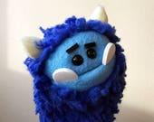 Blue Monster Creature Hand Puppet