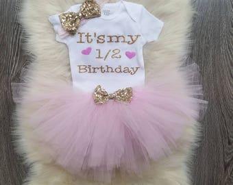 It's My 1/2 Birthday tutu set