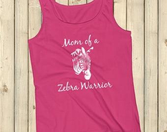 Mom of a Zebra Warrior Rare Disease Ehlers Danlos EDS Tank Top - Choose Color