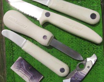 Wampum Inlay in Knives
