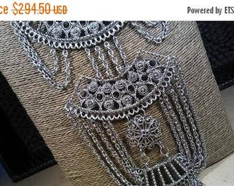ON SALE Rare GOLDETTE Bib Runway Statement Necklace 1960's 1970's Hollywood Regency Mad Men Mod Vintage Collectible Runway Jewelry